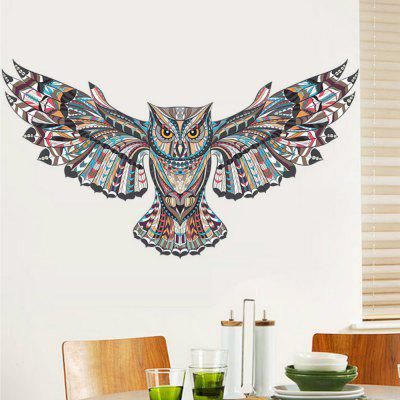 Colorful Owl Rooms Decorations Birds Flying Animal Wall Stickers Adhesive Decor