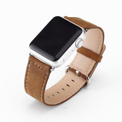 Crazy Horse Leather Sport Watch Band Strap for Apple Watch Series 1 2