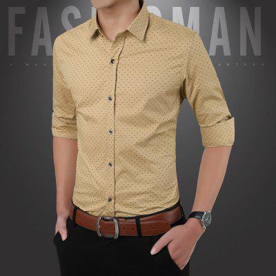 ManS Print Pure Cotton and Long Sleeved ShirtPlus Size Tops<br>ManS Print Pure Cotton and Long Sleeved Shirt<br><br>Collar: Turn-down Collar<br>Material: Cotton<br>Package Contents: 1 x Shirt<br>Shirts Type: Casual Shirts<br>Sleeve Length: Full<br>Weight: 0.2200kg