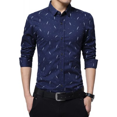 Man'S Personality, Large Size Long Sleeved Shirt