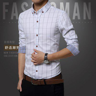 Man Plaid Large Size Long Sleeved ShirtMens Shirts<br>Man Plaid Large Size Long Sleeved Shirt<br><br>Collar: Turn-down Collar<br>Material: Cotton<br>Package Contents: 1 x Shirt<br>Shirts Type: Casual Shirts<br>Sleeve Length: Full<br>Weight: 0.2300kg