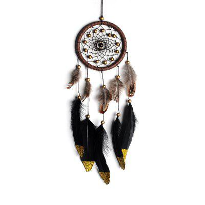 1шт Hand Made Nice Gift Antique Imitation Dreamcatcher Dream Catcher Net Натуральные перья настенные украшения Ornam