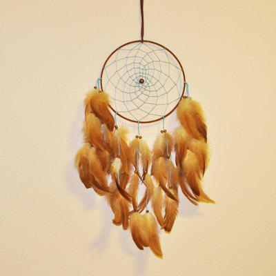 New big size Circular Dream Catcher Feathers Wall Hanging Garden Home Decoration Dreamcatchers Wind Chime On Sale