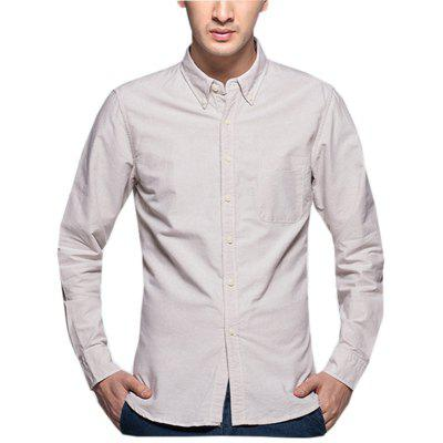 Long Sleeve Formal  Men Business Daily Casual Simple Shirt