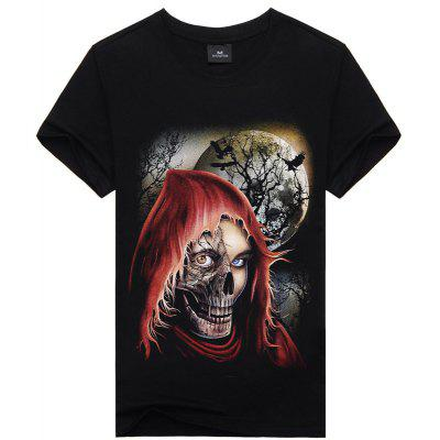 Sports Holiday Casual Active Gothic Short Sleeves Cotton T-shirt