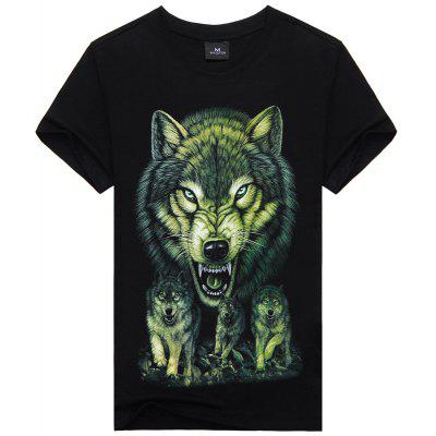 Men's Daily Casual Active Punk Short Sleeves Cotton T-shirt