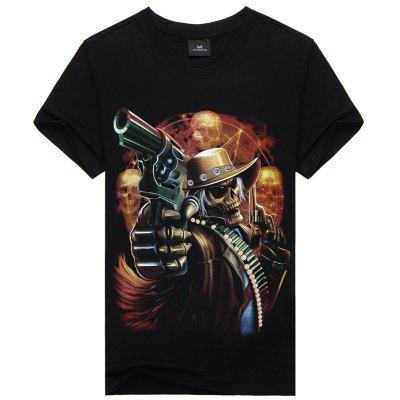 Casual Active Punk Gothic Short Sleeves CottonT-shirt