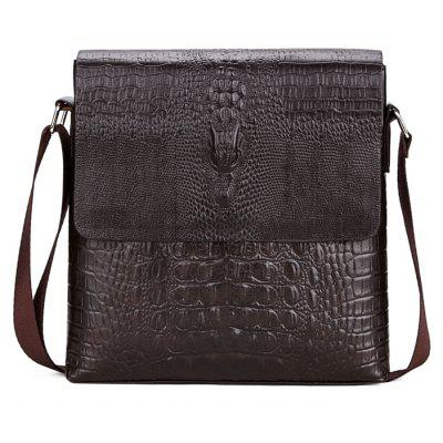 Crocodile pattern Shoulder Messenger casual fashion trendy small backpackCrossbody Bags<br>Crocodile pattern Shoulder Messenger casual fashion trendy small backpack<br><br>Closure Type: Cover<br>Gender: For Men<br>Handbag Type: Crossbody bag<br>Main Material: PU<br>Occasion: Versatile<br>Package Contents: 1 x Crossbody Bags<br>Package size (L x W x H): 26.00 x 6.00 x 28.00 cm / 10.24 x 2.36 x 11.02 inches<br>Package weight: 0.7000 kg<br>Pattern Type: Animal Prints<br>Product size (L x W x H): 25.00 x 5.00 x 27.00 cm / 9.84 x 1.97 x 10.63 inches<br>Product weight: 0.5000 kg<br>Style: Casual