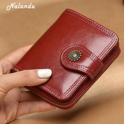 NaLandu Womens Luxury Ventage Wax Leather Clutch Wallet Mini Coin Purse Card HolderWallets<br>NaLandu Womens Luxury Ventage Wax Leather Clutch Wallet Mini Coin Purse Card Holder<br><br>Closure Type: Zipper, Hasp<br>Embellishment: Vintage<br>Gender: For Women<br>Height: 9.5cm<br>Interior: Zipper Poucht, Interior Slot Pocket<br>Main Material: Genuine Leather, Polyester<br>Package Contents: 1  x Wallet<br>Package size (L x W x H): 12.00 x 4.00 x 10.00 cm / 4.72 x 1.57 x 3.94 inches<br>Package weight: 0.1400 kg<br>Pattern Type: Solid<br>Style: Retro<br>Wallets Type: Standard Wallets