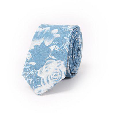 Casual Denim Printing Cotton Tie