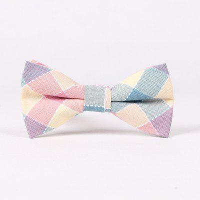 Pure Cotton Lattice Bow Tie