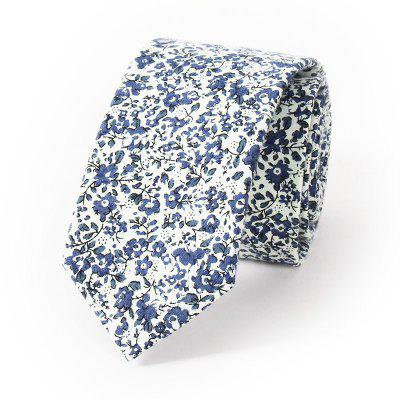 Printed Cotton 6CM Narrow Strip of Leisure Flower Tie