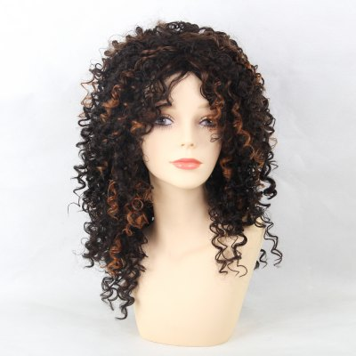 Synthetic Wigs Mainstream  Mixed Color Medium - Long And Small Curly Hair