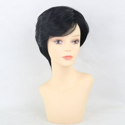 Human Hair Wigs Stylish And Exquisite Black Short Hair