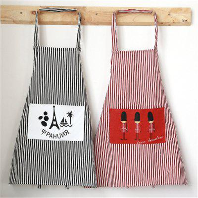 Buy BLACK Fashion Linen Stripe Apron with Pockets Cafe Waiter Kitchen Cook Household Cleaning Tools Kitchen Apron 2017 Free Shippi for $5.44 in GearBest store