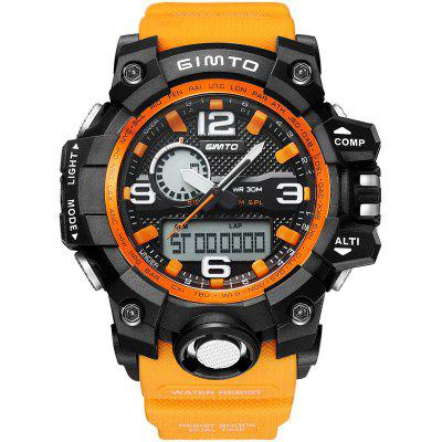 GIMTO Cool Digital Men Sport Watches Quartz Clock Dual Time LED Wristwatch Male Stopwatch Military Shock Watches Relogio