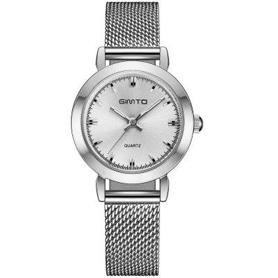 GIMTO Mini Dress Women Watches Silver Brand Quartz Ladies Watch Fashion Girl Bracelet Wristwatch Relogio Feminino Montre