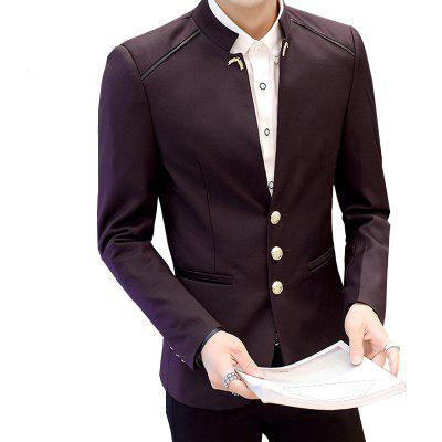 Fashion MenS Casual Blazer Autumn Street WearMens Blazers<br>Fashion MenS Casual Blazer Autumn Street Wear<br><br>Closure Type: Single Breasted<br>Clothing Length: Regular<br>Embellishment: Rivet<br>Fit Type: Regular<br>Front Style: Flat<br>Hooded: No<br>Material: Cotton<br>Package Contents: 1XBlazer<br>Package size (L x W x H): 1.00 x 1.00 x 1.00 cm / 0.39 x 0.39 x 0.39 inches<br>Package weight: 0.5600 kg<br>Pattern Type: Solid<br>Product weight: 0.5500 kg<br>Sleeve Length: Long Sleeves<br>Type: Suits