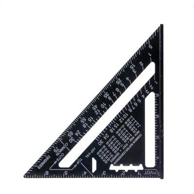 Metric Aluminum Alloy Triangular Ruler Metricruler Speed Square Protractor Double Scale Miter Framing Measurement Ruler