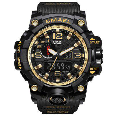 Buy BLACK GOLD SMAEL Brand Sport Watch Men's Fashion Analog Quartz Dual Display LED Digital Electronic Watch Waterproof Swimming Milita for $21.27 in GearBest store