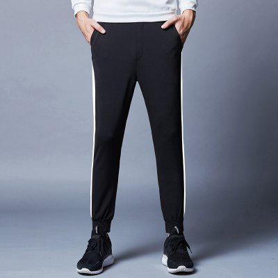 MenS Trousers White Stripes Feet Black Sports Casual PantsMens Pants<br>MenS Trousers White Stripes Feet Black Sports Casual Pants<br><br>Closure Type: Elastic Waist<br>Elasticity: Micro-elastic<br>Fabric Type: Herringbone<br>Fit Type: Skinny<br>Length: Normal<br>Material: Polyester, Spandex<br>Package Contents: 1x pants<br>Package size (L x W x H): 1.00 x 1.00 x 1.00 cm / 0.39 x 0.39 x 0.39 inches<br>Package weight: 0.3000 kg<br>Pant Style: Pencil Pants<br>Pattern Type: Solid<br>Style: Casual<br>Thickness: Thin<br>Waist Type: Mid