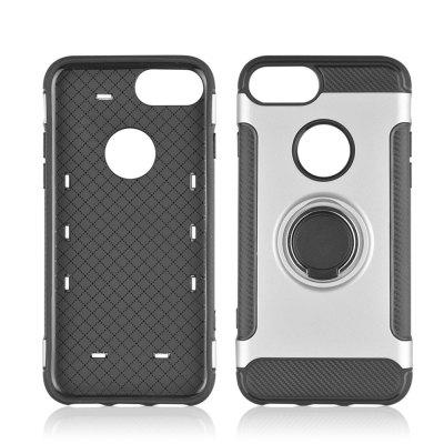 For iPhone 8 Bracket Protective Cover TPU Plus Carbon Fiber Ring Bracket Phone Case
