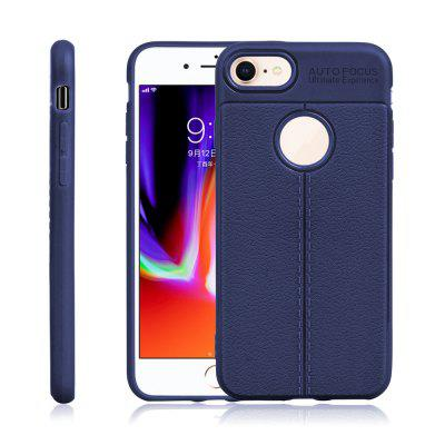 For iPhone 8 Case Thin Litchi Pattern Tpu Phone Soft Shell