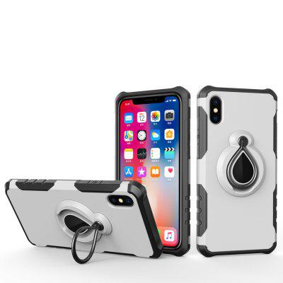 For iPhone X Bracket Protective Cover TPU Plus Carbon Fiber Ring Bracket Phone Case
