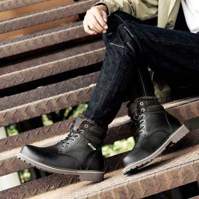 """New Winter Warm Extra Large Plus Velvet High Tooling Snow BootsMens Boots<br>New Winter Warm Extra Large Plus Velvet High Tooling Snow Boots<br><br>Boot Height: Ankle<br>Boot Type: Work &amp; Safety<br>Closure Type: Lace-Up<br>Embellishment: Metal<br>Gender: For Men<br>Heel Hight: Low(0.75""""-1.5"""")<br>Heel Type: Chunky Heel<br>Outsole Material: Rubber<br>Package Contents: 1xshoes(pair)<br>Pattern Type: Solid<br>Season: Winter<br>Toe Shape: Round Toe<br>Upper Material: Flock<br>Weight: 1.5840kg"""