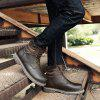 New Winter Warm Extra Large Plus Velvet High Tooling Snow Boots - BROWN
