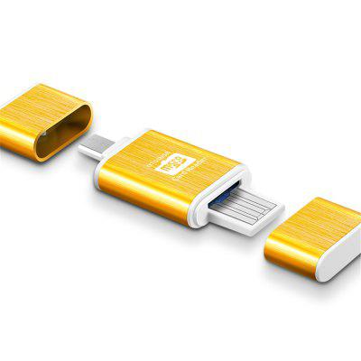 Metal Micro SD / TF Card Reader USB + OTG Combo