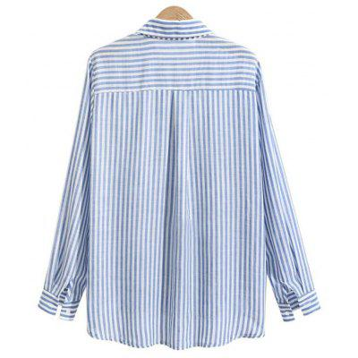 2018 New Spring Temperamental Striped Casual ShirtsTees<br>2018 New Spring Temperamental Striped Casual Shirts<br><br>Collar: Turn-down Collar<br>Elasticity: Nonelastic<br>Embellishment: Button<br>Fabric Type: Chiffon<br>Material: Polyester<br>Package Contents: 1xShirt<br>Pattern Type: Striped<br>Shirt Length: Regular<br>Sleeve Length: Full<br>Sleeve Type: Batwing Sleeve<br>Style: Casual<br>Weight: 0.1700kg