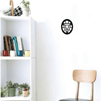 Sph-6 Circle Inverted Triangle Pattern Wall Stickers Cartoon Vinyl Decals Home Decoration
