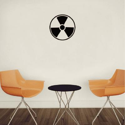 Sph-11 Nuclear Symbol Creative Pattern Wall Stickers Vinyl Decals Home Decoration
