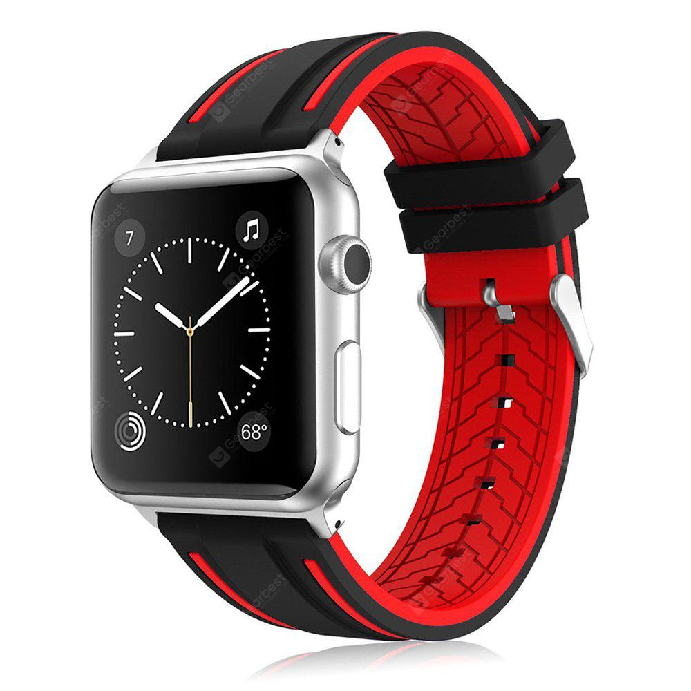 LEEHUR Soft Silicone Band Sport Style Replacement Bracelete Pulseira para Apple Watch Series 3/2/1 42mm