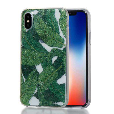 Banana Leaves High Penetrating Powder IMD  TPU Phone Case for iPhone X