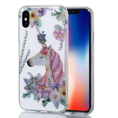 Unicorn High Penetrating Powder IMD  TPU Phone Case for iPhone X
