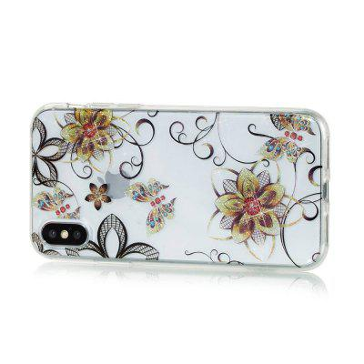 Golden Flower Butterfly High Penetrating Powder IMD  TPU Phone Case for iPhone XiPhone Cases/Covers<br>Golden Flower Butterfly High Penetrating Powder IMD  TPU Phone Case for iPhone X<br><br>Features: Back Cover<br>Material: TPU<br>Package Contents: 1 x Phone Case<br>Package size (L x W x H): 14.50 x 7.20 x 1.00 cm / 5.71 x 2.83 x 0.39 inches<br>Package weight: 0.0180 kg<br>Product weight: 0.0170 kg<br>Style: Novelty