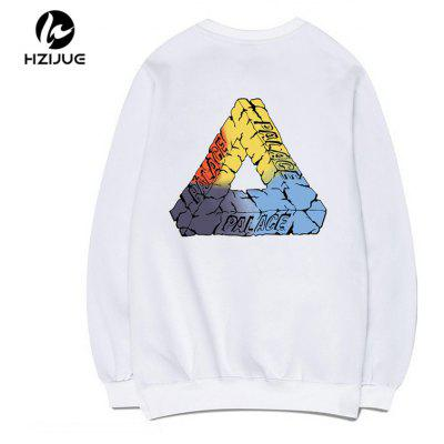 Triangle Print Round Collar SweatshirtMens Hoodies &amp; Sweatshirts<br>Triangle Print Round Collar Sweatshirt<br><br>Material: Cotton<br>Package Contents: 1xSweatshirt<br>Shirt Length: Regular<br>Sleeve Length: Full<br>Style: Casual<br>Weight: 0.5000kg