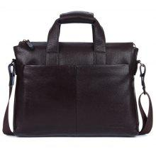 Genuine Leather Men Briefcare Brand High Quality Men'S Business Handbags Two Color Real Leather Soft Men Laptop Bag