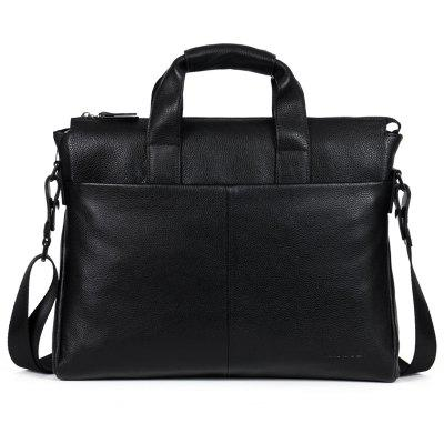 Buy BLACK Genuine Leather Men Briefcare Brand High Quality Men'S Business Handbags Two Color Real Leather Soft Men Laptop Bag for $130.45 in GearBest store