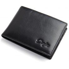 Genuine Cow Leather Men Money Clips Vintage Slim Design Credit Card Dollar Clip Purse Cowhide Small Coin Wallet Male