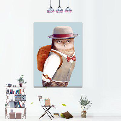 Modern Frameless Canvas Print of Cartoon Owl for Home DecorationPrints<br>Modern Frameless Canvas Print of Cartoon Owl for Home Decoration<br><br>Craft: Print<br>Form: One Panel<br>Material: Canvas<br>Package Contents: 1 x Print<br>Package size (L x W x H): 30.00 x 2.00 x 2.00 cm / 11.81 x 0.79 x 0.79 inches<br>Package weight: 0.0520 kg<br>Painting: Without Inner Frame<br>Product weight: 0.0440 kg<br>Shape: Vertical<br>Style: Art Deco, Contemporary, Gift, Special Design, Funny, Novelty, Creative<br>Subjects: Cartoon<br>Suitable Space: Living Room,Bedroom,Dining Room,Office,Hotel,Cafes,Kids Room,Hallway,Kids Room,Study Room / Office,Boys Room,Girls Room