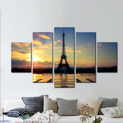 YHHP 5 Panels Hd Print Wall Art Eiffel Tower LandscapePrints<br>YHHP 5 Panels Hd Print Wall Art Eiffel Tower Landscape<br><br>Brand: YHHP<br>Craft: Print<br>Form: Five Panels<br>Material: Canvas<br>Package Contents: 5 x Panel of Print<br>Package size (L x W x H): 42.00 x 10.00 x 10.00 cm / 16.54 x 3.94 x 3.94 inches<br>Package weight: 0.5000 kg<br>Painting: Without Inner Frame<br>Product weight: 0.4000 kg<br>Shape: Vertical<br>Style: Modern Style, Construction<br>Subjects: Landscape<br>Suitable Space: Living Room,Bedroom,Office