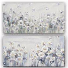 Happy Art Handed Canvas Modern Beautiful Flower Oil Painting Art