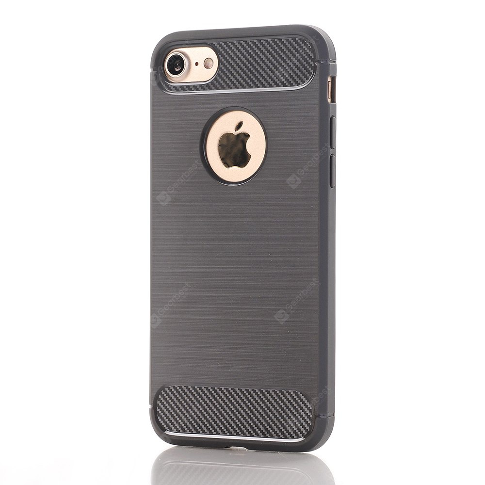 Soft TPU Carbon Fiber Back Cover Case for iPhone 7 / 8