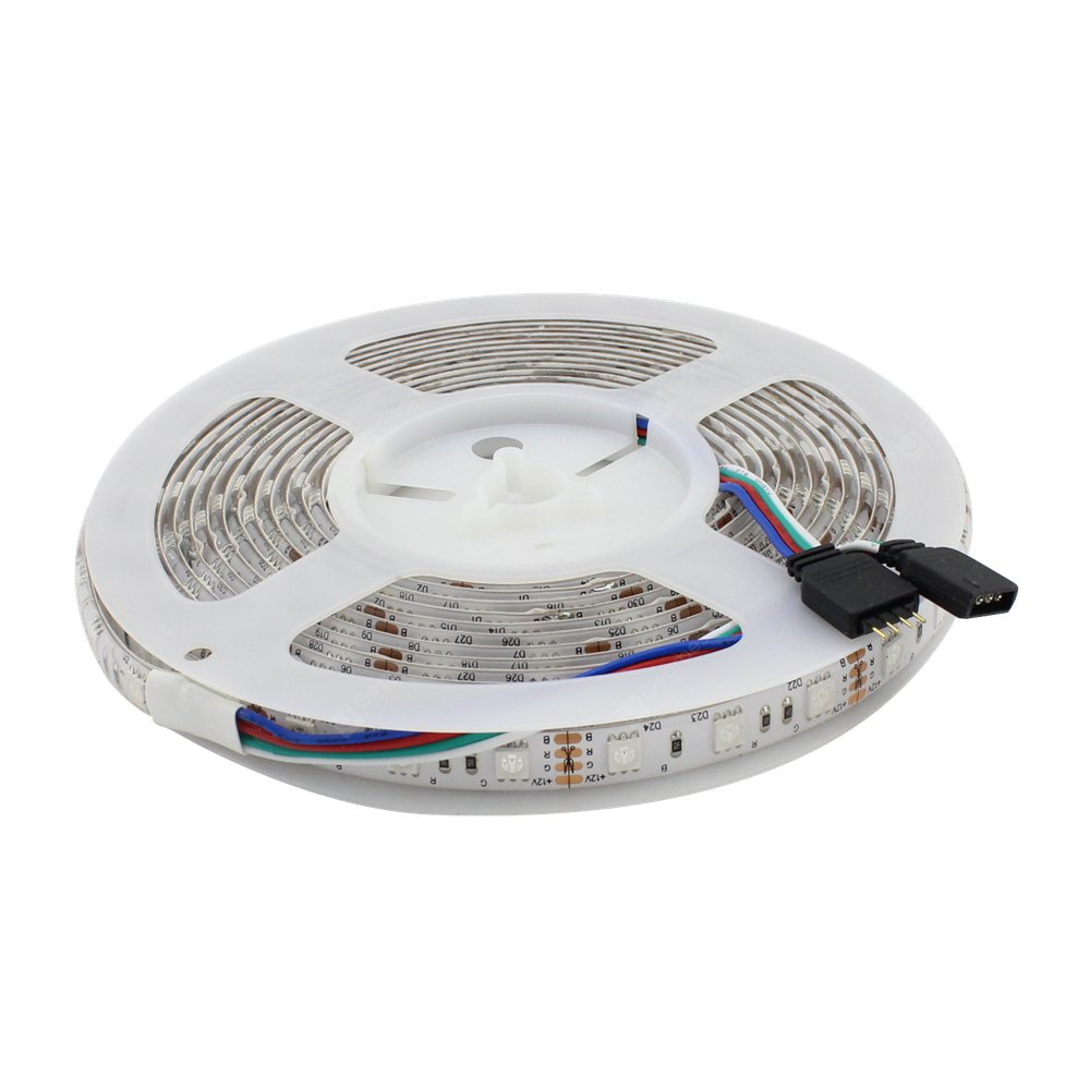 WeiXuan UL Listed 72W 5M Led RGB Flexible Strip Waterproof IP65 60 SMD / Meter 5050 LEDs 12V DC