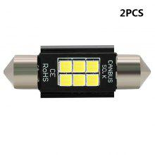 2PCS Super White 39mm 3030 6 SMD Led Car Licence Plate Auto Dome Reading Light