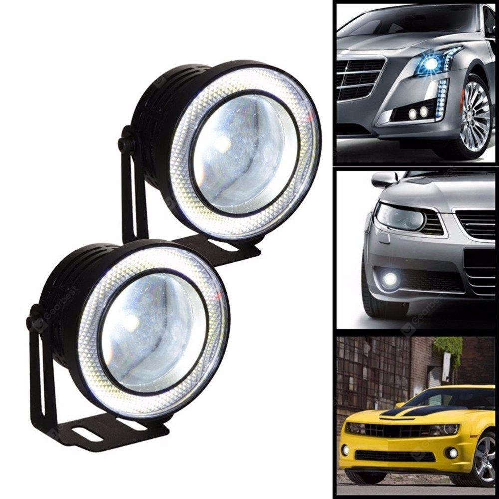 Image result for 2pcs 76mm High Quality 30W COB Car Refitting Fisheye Angel Eyes Fog Lights -
