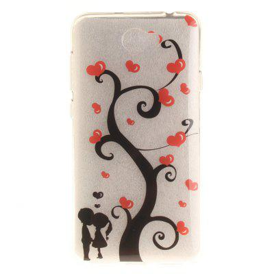 Couples under the tree Soft Clear IMD TPU Phone Casing Mobile Smartphone Cover Shell Case for Huawei Y5II dots pattern pu leather cover pc back case stand for iphone 5 black white